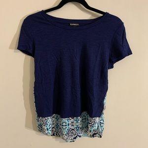 NWOT Blue t-shirt Express